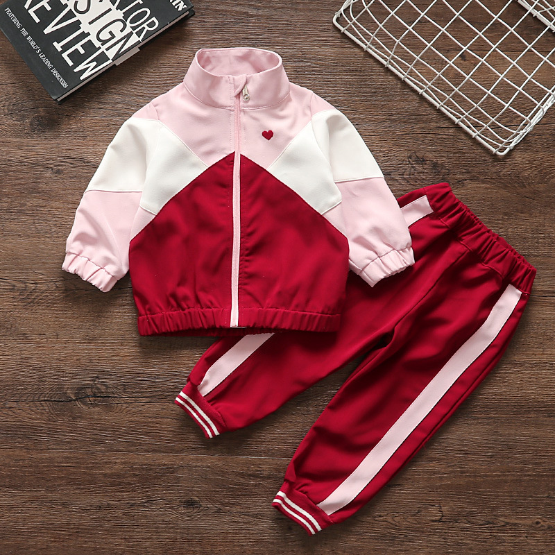 Children's Suit 2019 New Children's Spring And Autumn Dress Baby  Style Sports Long Sleeve Fashion Two-Piece Set