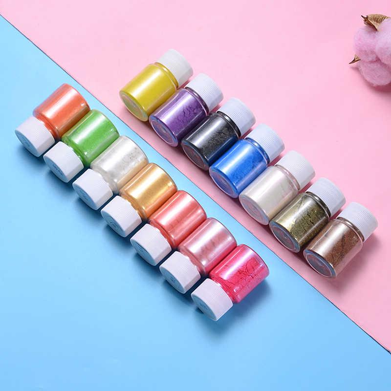14 สี/ชุดระเบิด Pearl Slime สี Mica ผงสบู่ Dye แต่งหน้า Pigment สำหรับสบู่อุปกรณ์เครื่องสำอาง DIY
