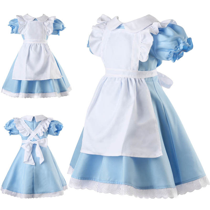 Girls Alice In Wonderland Fairytale Book Week Fancy Dress Costume