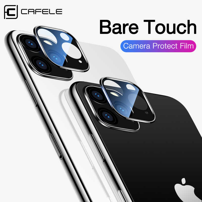 Cafele 2PCS Rear Lens Protective Ring For iPhone 11 pro max Camera Lens Screen Protector For iPhone 11 pro max Tempered Glass