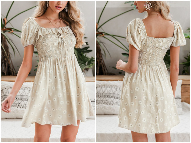 Floral Ruffles Apricot