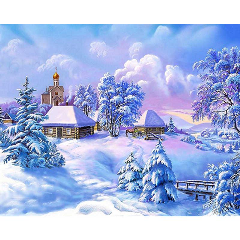 Tranh Gắn Đá Đầy Tuyết Núi Kim Cương Thêu Phong Cảnh Kim Cương Chéo Nữ Thời Trang Phong Cách Trang Trí Nhà Vải Kim Cương Nghệ Thuật