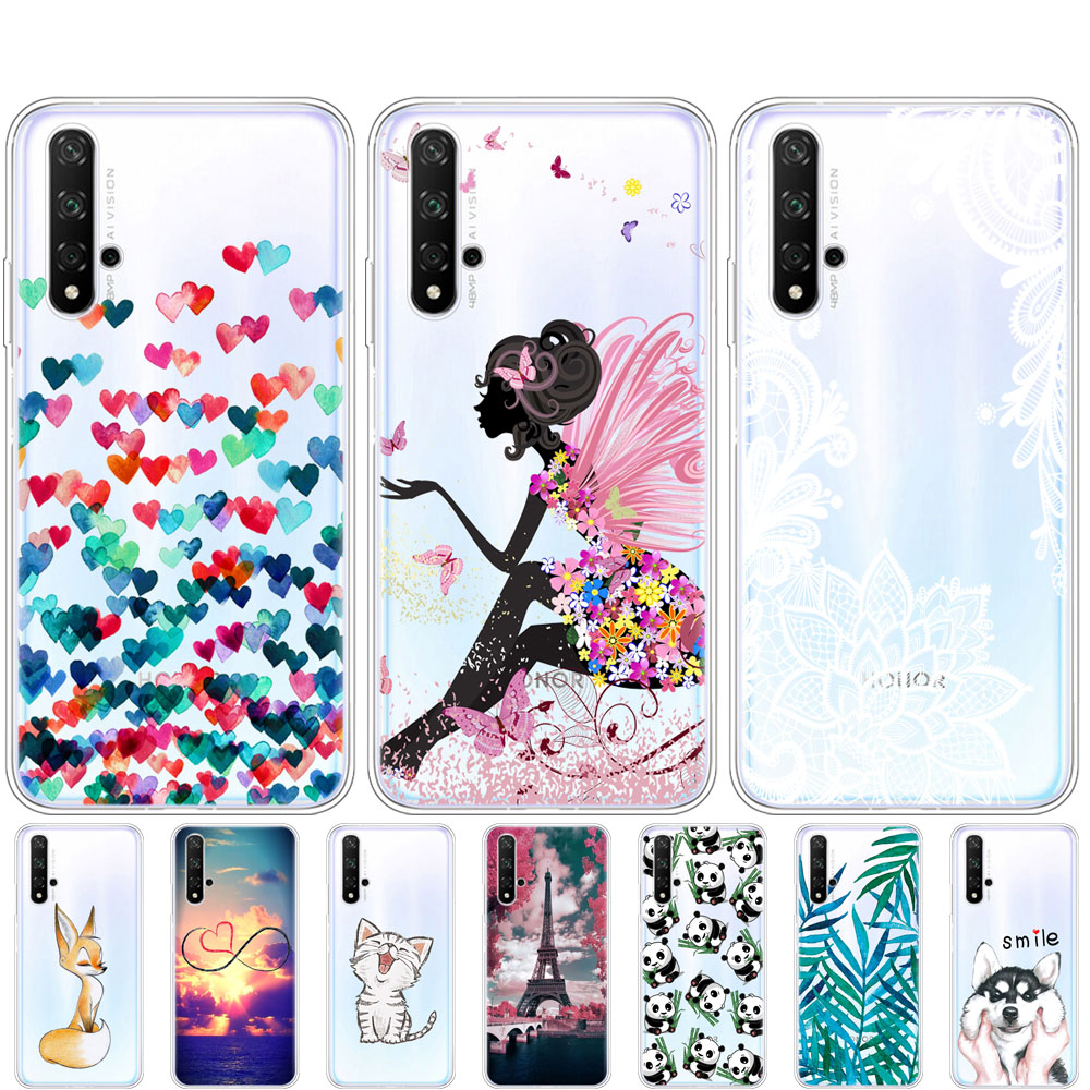 case on Honor 20 Case Silicone Back Cover Phone Case For Huawei Honor 20 Pro Lite Honor20 YAL-L21 YAL-L41 Luxury Cartoon