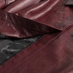 Image 5 - Ayunsue本革ジャケット春秋のジャケットの女性100% 本物のシープスキンのコート女性韓国ボンバージャケットチャケータmujer