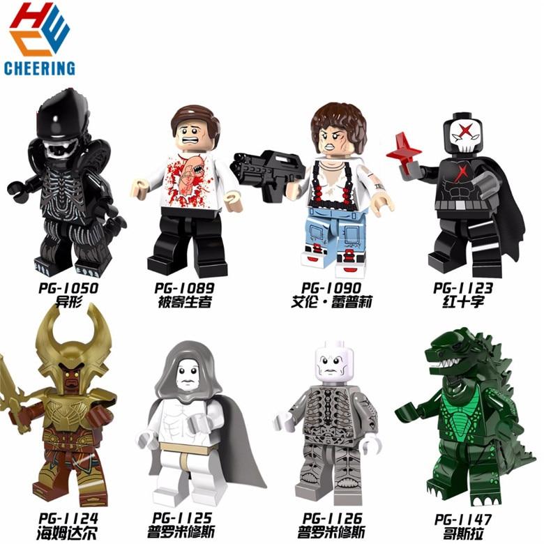 Single Sale The Movie Series Red X Man Prometheus Ellen Ripley Building Blocks For Best Children Toys Gift PG8090