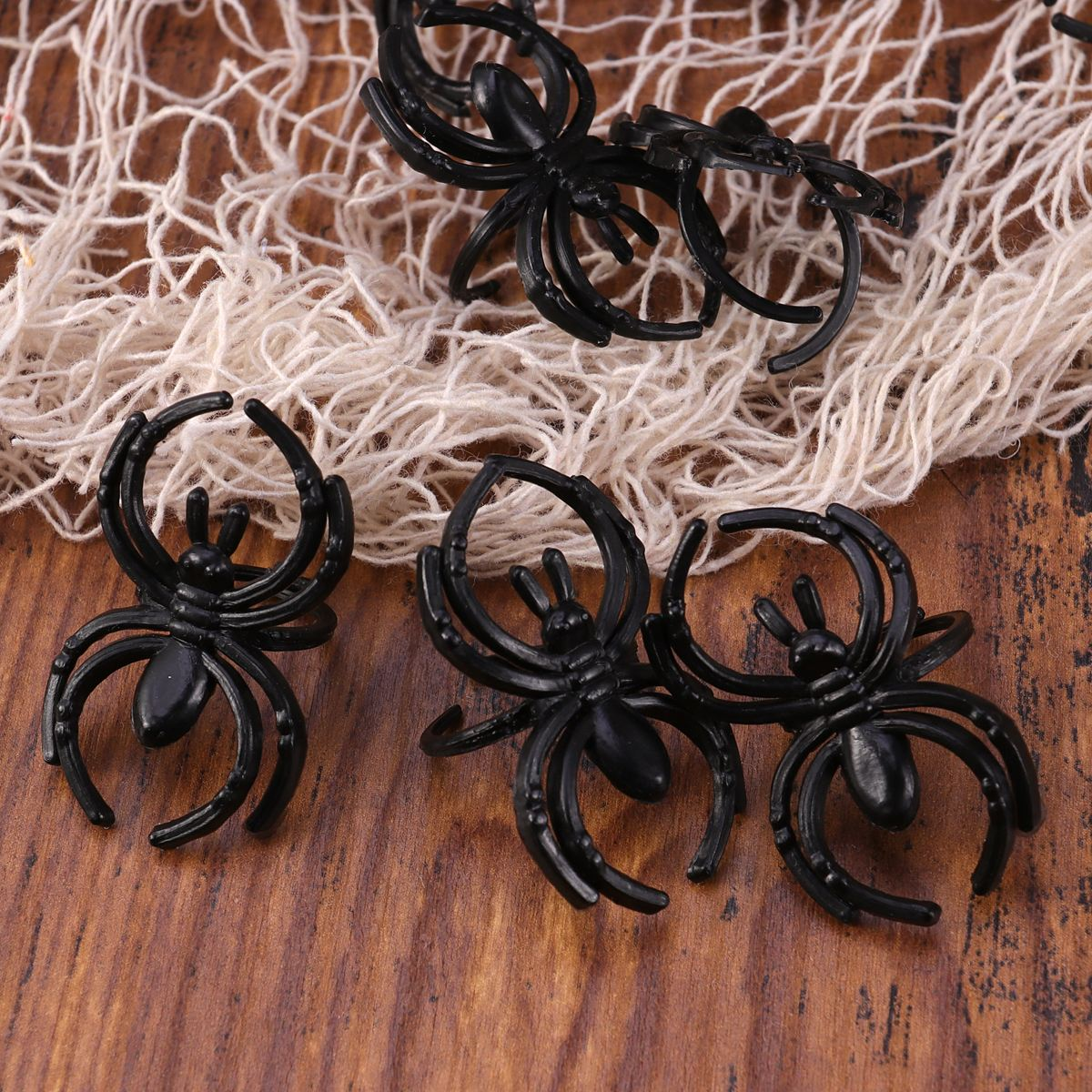 SPIDER RINGS HALLOWEEN COSTUME JEWELRY ~ Birthday Party Supplies one size