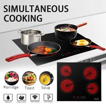 ceramic glass 4 head Electric Infra  Cooker TaoLu Four hot plates Touch control