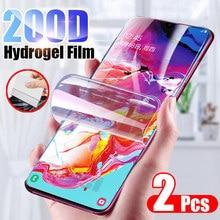 2 pçs filme de hidrogel protetor de tela para samsung a50 a10 a40 a20 a30 a20e a70 capa completa filme macio para samsung a7 a51 a71