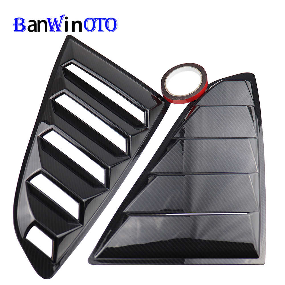 Carbon Fiber Look GZYF Auto Car 1//4 Quarter Side Window Louvers Scoop Vent Cover Trims Fits 2015-2018 Ford Mustang