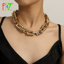 Square Chain Necklaces Jewelry Collar Chunky Choker Miami Cuban Punk Women's Gifts Hit-Hop