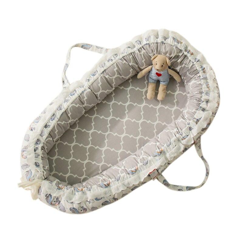Bébé sommeil nid lit infantile enfant en bas âge coton berceau respirant 85*50cm nouveau-né bébé couffin pare-chocs Portable berceau voyage lit