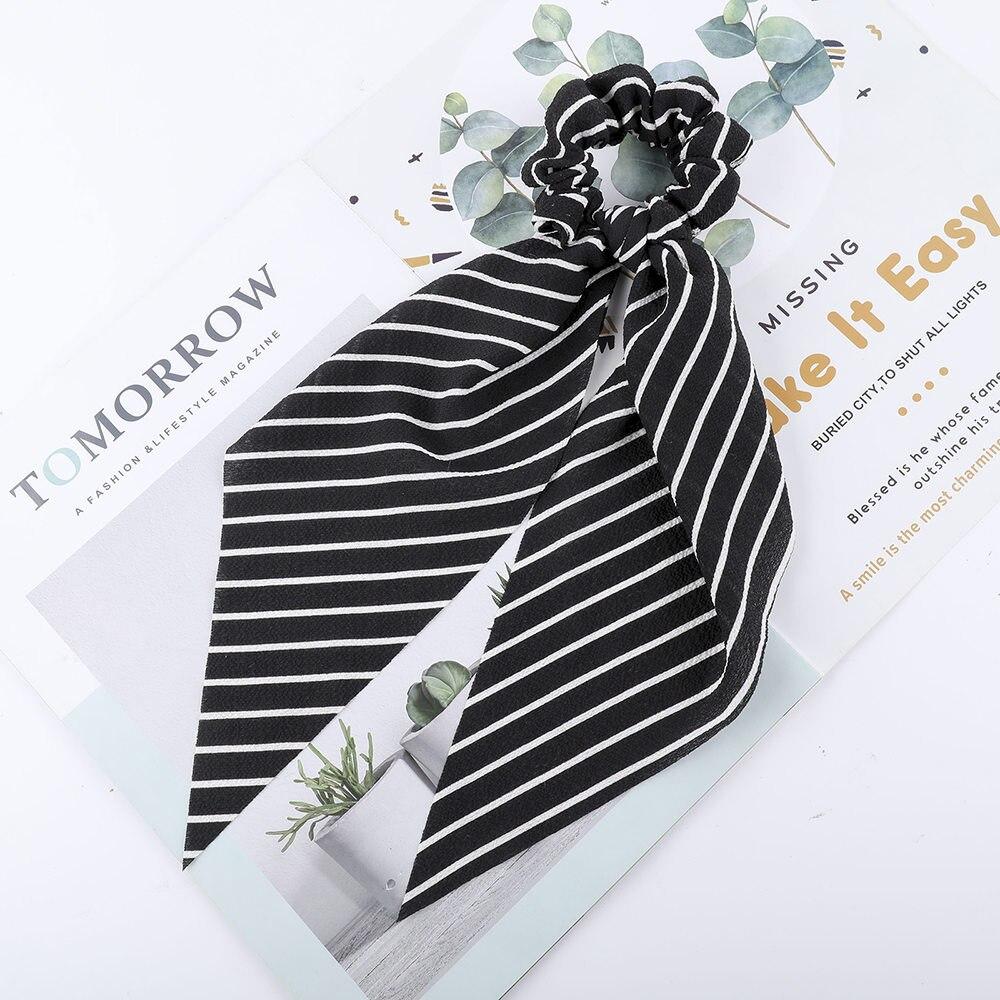Levao fleur impression cheveux écharpe arc chouchous queue de cheval bandeau pour femmes cheveux accessoires nœud papillon élastique cheveux corde bandeaux 33