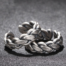 Silver 925 Jewelry Handwoven Thai Ring Female Fashion Sculpture Fish-shaped Party 7.50