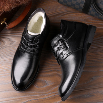autumn winter genuine leather ankle boots chelsea boots men shoes warm vintage classic male casual winter shoes men snow boots New Winter Boots Men Genuine Leather Shoes Warm Plush for Cold Winter Mens Ankle Boots Male Footwear