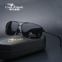 Cook Shark New Color Changer Sunglasses Men's Sunglasses Tidal Polarization Driver's Mirror Driving Night Vision Glasses