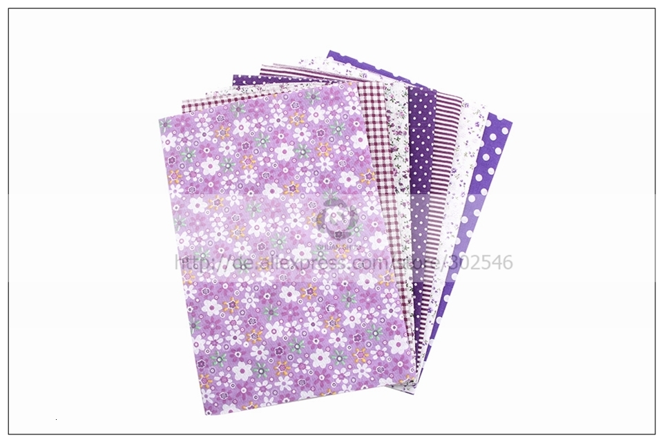 H784bc2dd6b9b4839abfff1e261dcd1d3c 7pcs 24x24cm Mixed Printed Cotton Sewing Quilting Fabrics Basic Quality for Patchwork Needlework DIY Handmade Cloth