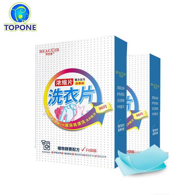 Laundry Detergent Natural Laundry Tablets Washing Powder Home Cleaning Products Supplies Wash Paper Sheets Total washing machine