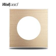 L6 золотистая панель для самостоятельной сборки, матовая алюминиевая настенная розетка с выключателем, Универсальная металлическая наклад...