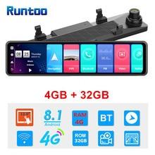 12 Inch 4G Android Rear View Mirror Dash Cam Auto Video Recorder ADAS GPS Navigation Wifi Dual Lens Full HD 1080P Car DVR Camera