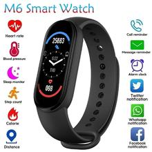 Color Screen Sport Bracelet Touch Smart Watch M6 Smart Watch Bracelet Blood Pressure Sleep Health Monitoring Pedometer
