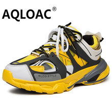 AQLOAC New Designer Running Shoes Men Breathable Chunky Sneakers Trainers Sport Shoes Zapatillas Hombre Deportiva(China)