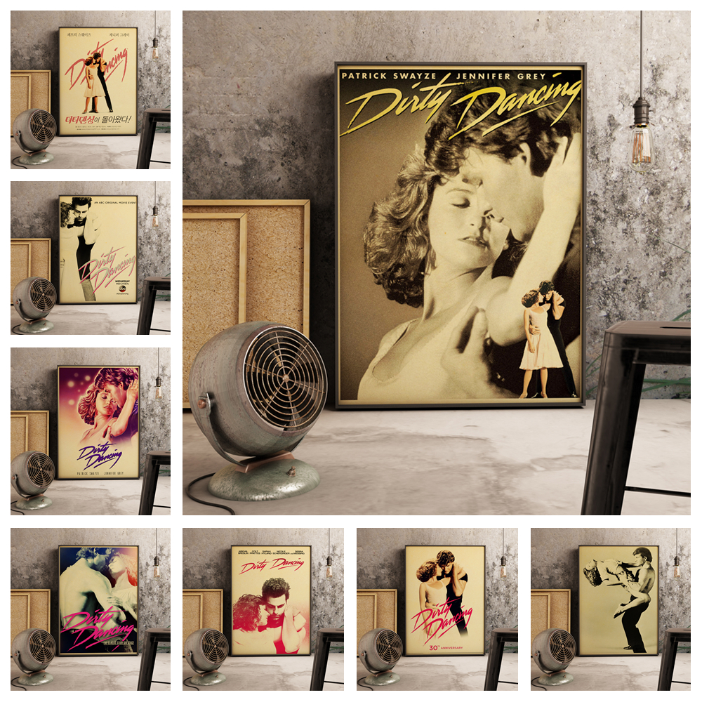 Popular Movie Dirty Dancing Retro Style Home Decor Poster Hight Quality Canvas Painting Hight Quality Home Decor No Frame O537