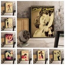 Película Popular baile sucio estilo retro decoración del hogar póster alta calidad lienzo pintura alta calidad decoración del hogar sin marco o537