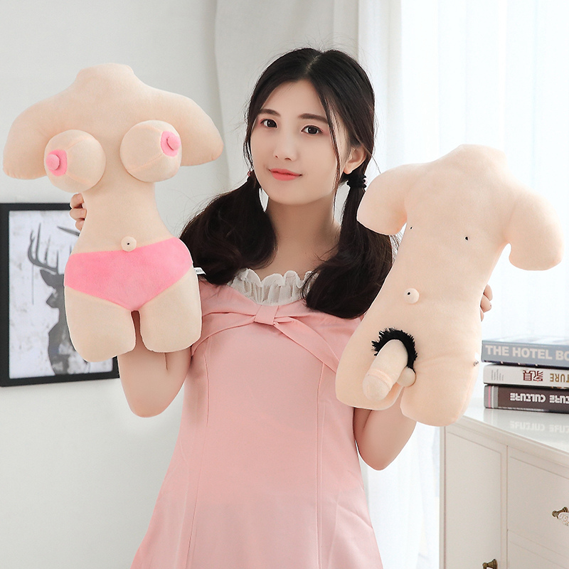 40cm Creative Penis Beauty Plush Toys Boobs Sexy Stuffed Pillow Sexy Soft Stuffed Funny Cushion Simulation Lovely Dolls Gift