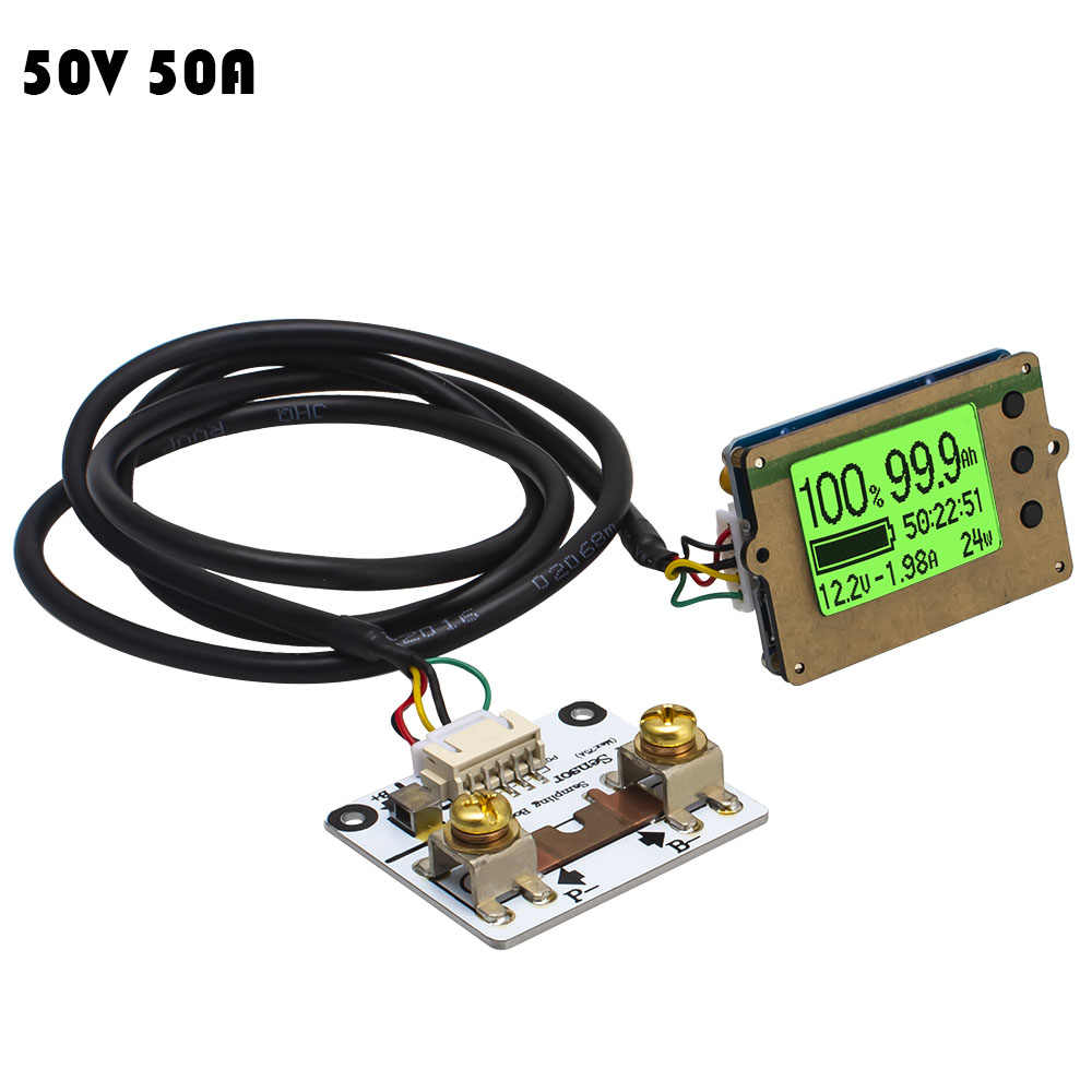 50V 50A Precise Battery Real Capacity Tester Coulomb Counter Coulometer For LiFePO4 Lithium LiPo/LiIon Free shipping 12000759