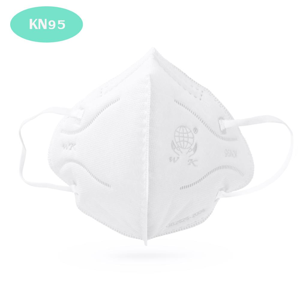 100Pcs KN95 Mask Disposable Face Mouth Mask 95% Filtration Non-woven Fabric Protective Masks For Dust Particles Pollution KN95