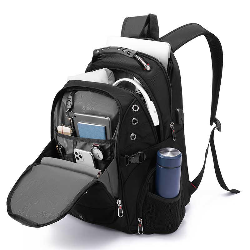 2020 עמיד למים 17 אינץ מחשב נייד תרמיל גברים USB טעינת נסיעות תרמיל נשים אוקספורד תרמיל זכר בציר בית ספר תיק המוצ 'ילה
