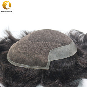 Image 3 - Durable Breathable Mens Toupee French Lace with Poly Coating Indian Human Hair System Men 7 Sizes Hair Nuit