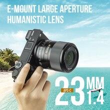 Viltrox 23mm f1.4 stm para sony e-montagem lente da câmera para sony a6300 a6600 a9 a7riii a7m3 a7riv foco automático af 23/1.4 e APS-C len