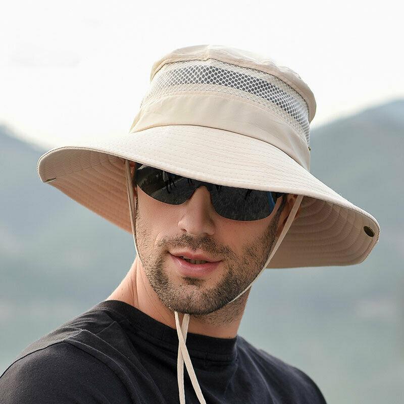Camo Bucket Hat Boonie Hunting Fishing Outdoor Cap Wide Brim Military Unisex Sun