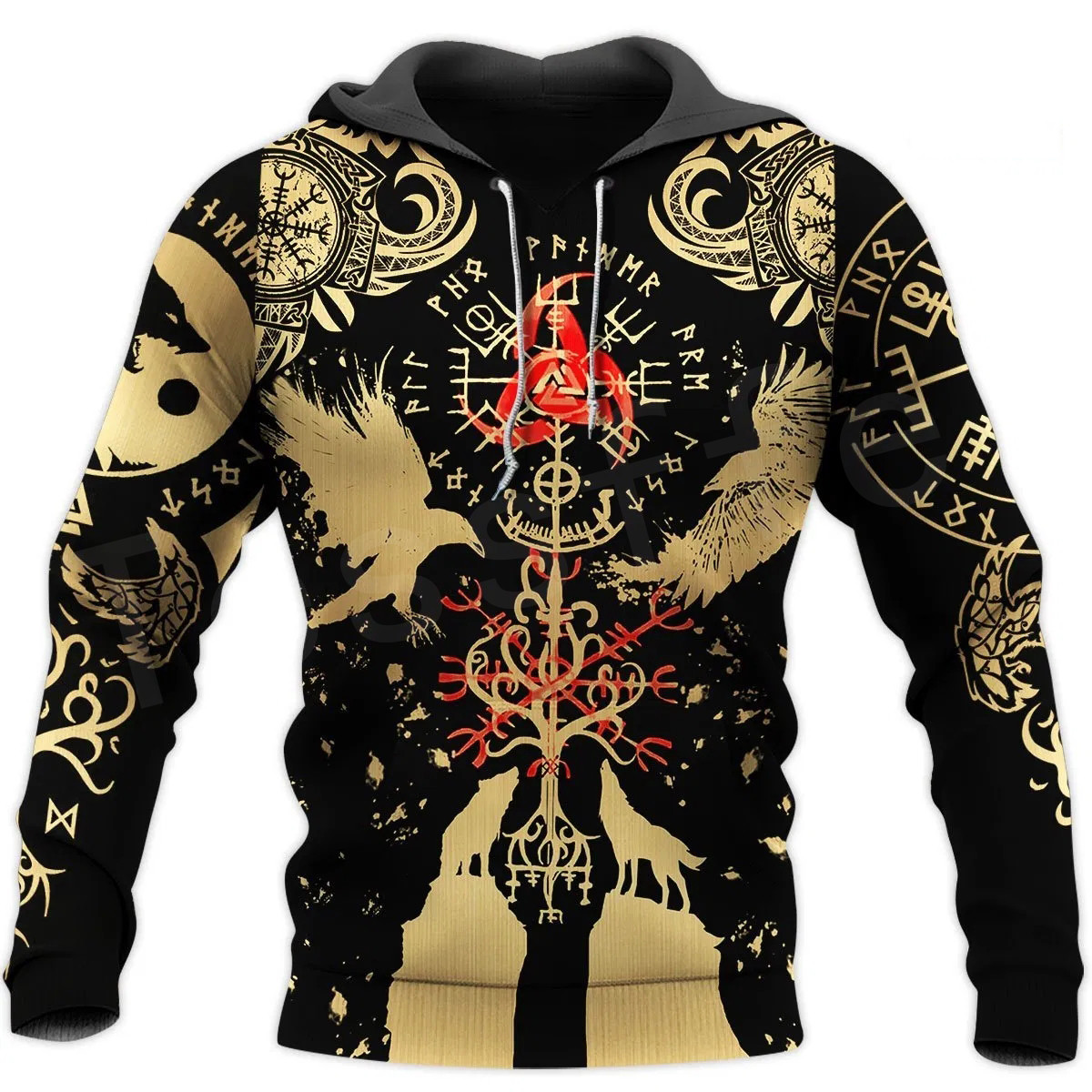 Tessffel Vikings Symbol Tattoo Viking Warriors NewFashion Trucksuit 3DPrint Casual Unisex Zipper/Sweatshirts/Hoodies/Jacket B-13