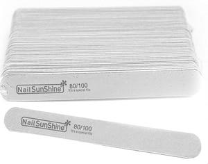 Image 5 - 200 pcs  Strong Thick Wood Nail Files 180/240 120/180 240/320 100/150 Lima Buffer Manicure  Wood Sanding Nails Files
