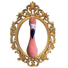 2021 Promotion gift stuffed plush toy animal flamingo head for interior decor wall decor