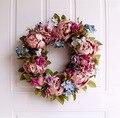 Венок ручной работы, цветочный венок из лозы для украшения стен и дверей, весенне-осенний Повседневный венок для украшения дома