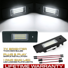 2 шт. светодиодный светильник номерного знака без ошибок 24SMD автомобильные лампы для BMW 1 серии E81 E87 E87N F20 F21 автомобильный светильник