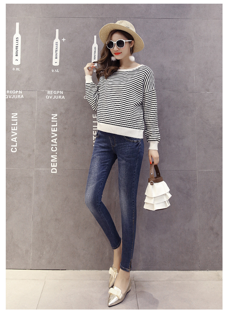 Blue Maternity Pants Casual Trousers For Pregnant Women Clothing Cotton Sport Pregnancy Clothes Gravida Wear Loose Pants 2020 (11)