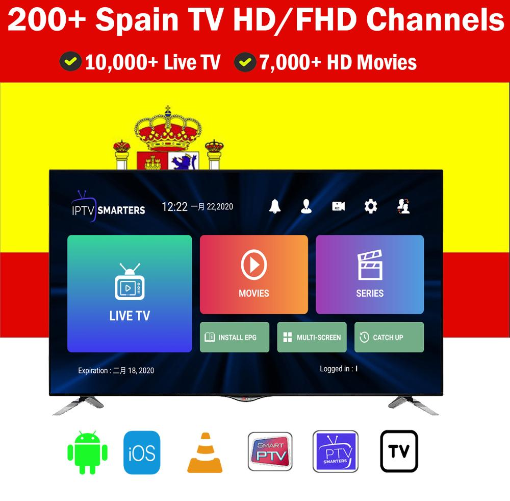 12 Months Spain IPTV M3U Subscription Spain DAZN Code GSE Enigma For Android Box Enigma2 Smart PC Smart TV