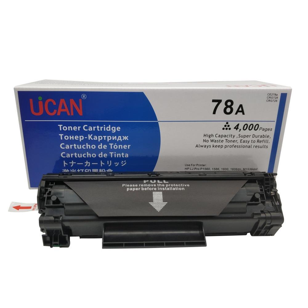 4000 pages UCAN 78a Cartouche De Toner pour HP 278a CE278a Laserjet Pro P1560 P1566 P1600 P1606DN M1536DNF Imprimante