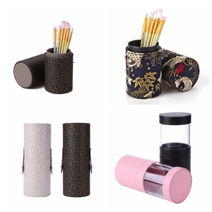 Image 3 - PU Leather Travel Makeup Brushes Pen Holder Storage Empty Holder Cosmetic Brush Bag Brushes Organizer Make Up Tools