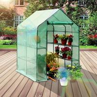 Verde planta doméstica estufa dois andares mini jardim quarto quente pvc jardim quarto quente 143x73x195cm dropshipping atacado