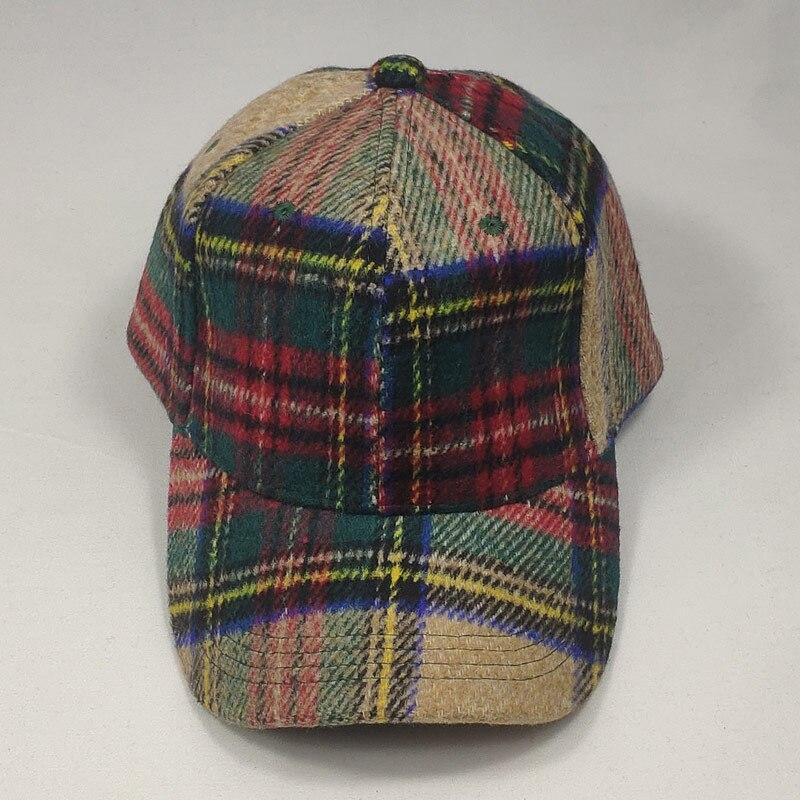 Adjustable Plaid Tweed Vintage Men Cap Country Baseball Hat Dark Grey Lt.brown Beige