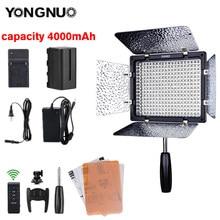 Yongnuo yn300 iii 3200k-5500k cri95 câmera foto led luz de vídeo opcional com adaptador de energia ac + kit de bateria YN-300 iii