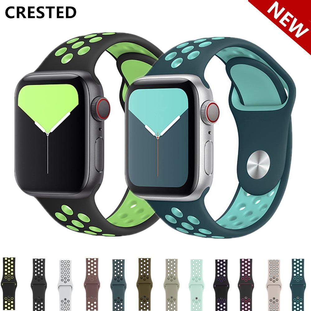 Strap For Apple Watch Band 44mm/40mm 42mm/38mm Sport Correa Bracelet Belt Watch Accessories Iwatch Apple Watch 5 4 3 Band