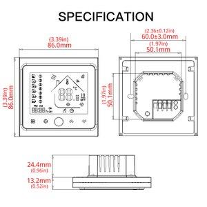 Image 5 - Le chauffage par le sol électrique intelligent de régulateur de température de Thermostat de WiFi fonctionne avec lécho dalexa