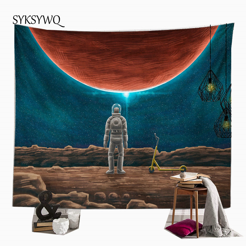 trippy tapestry star wall hanging tapiserie mural psychedelic tapestry bohemian decoration doek muur wall carpet image