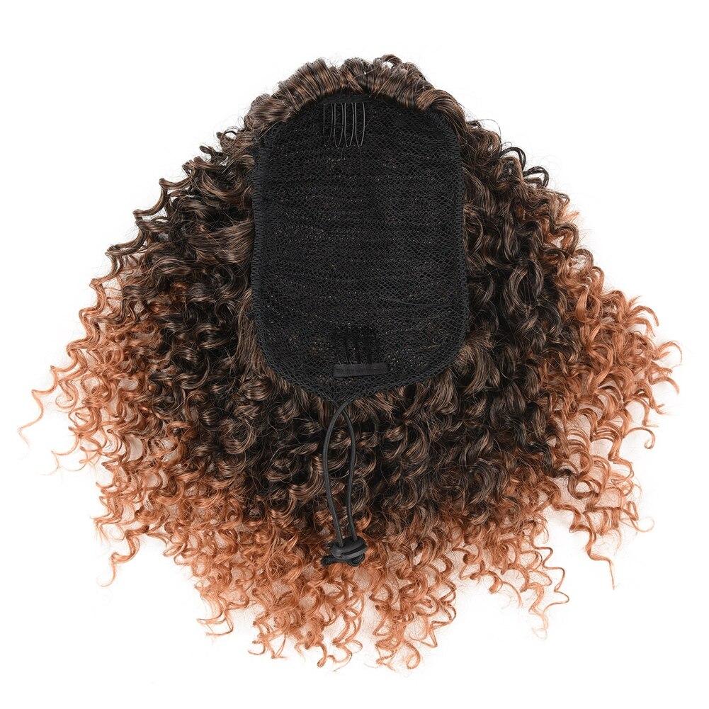 Cordão sintético afro kinky curly rabo de